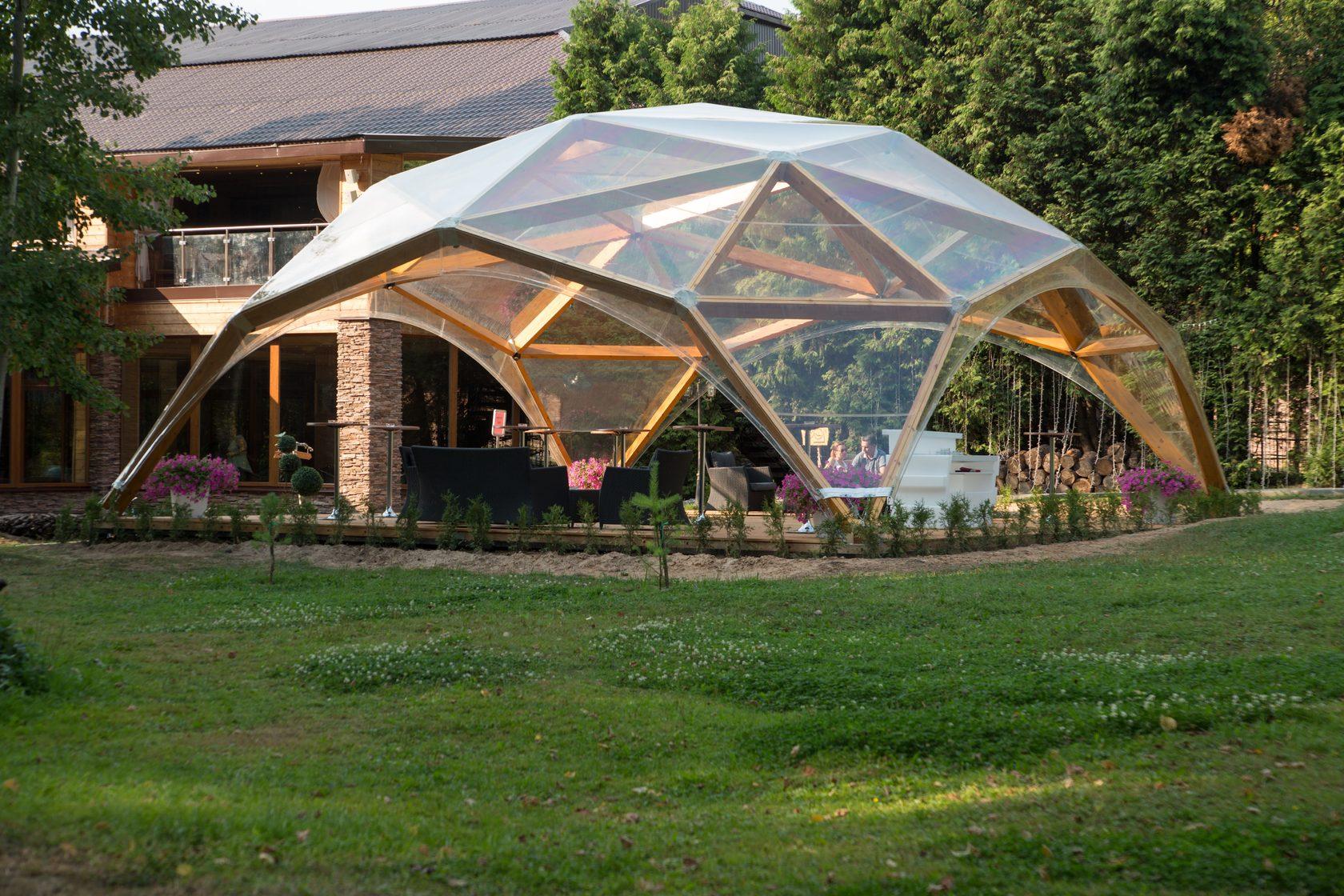 Деревянный геодезический купол